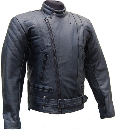 lederjacke mit protektoren leder jacke f r biker chopper. Black Bedroom Furniture Sets. Home Design Ideas